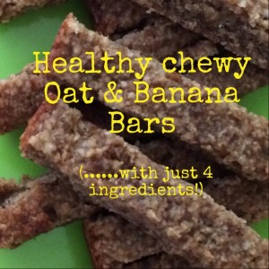 Chewy Oat & Banana Bars